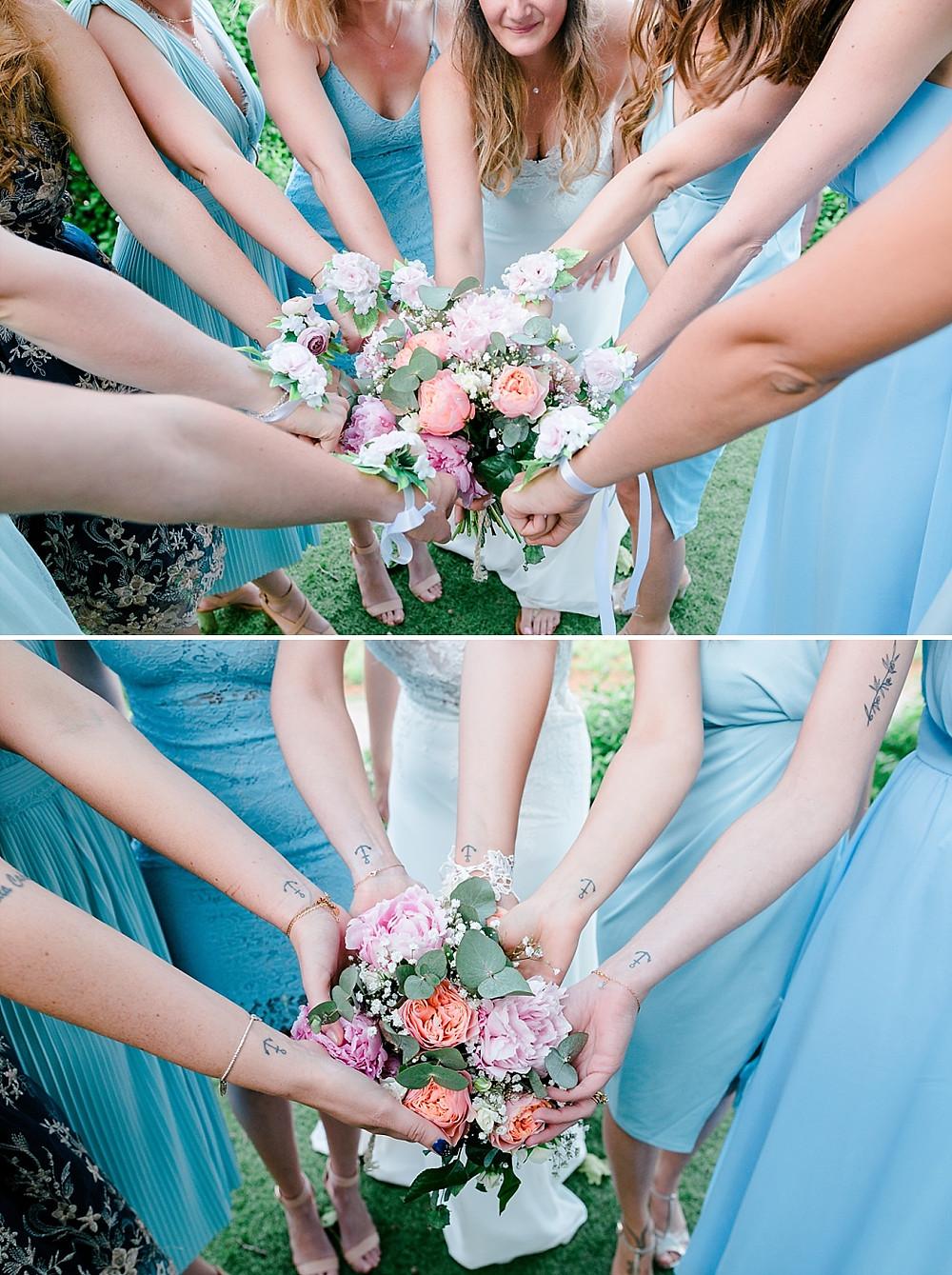 photos de groupe lors du mariage