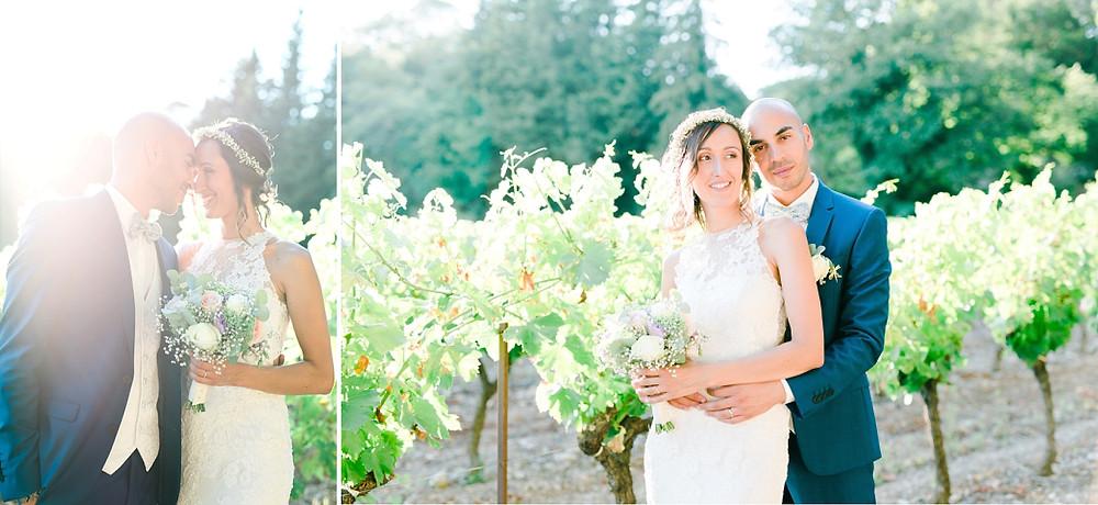 photographie des mariés au Domaine Saint-Martin, Flassans sur Issole