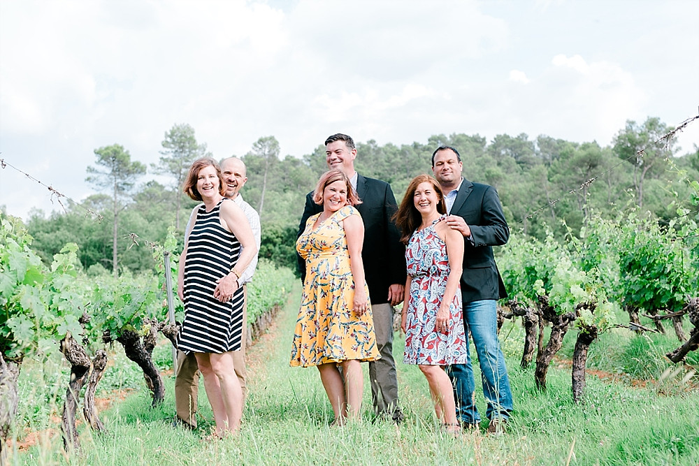 photo famille groupe parents Chateau Routas chateauvert bras