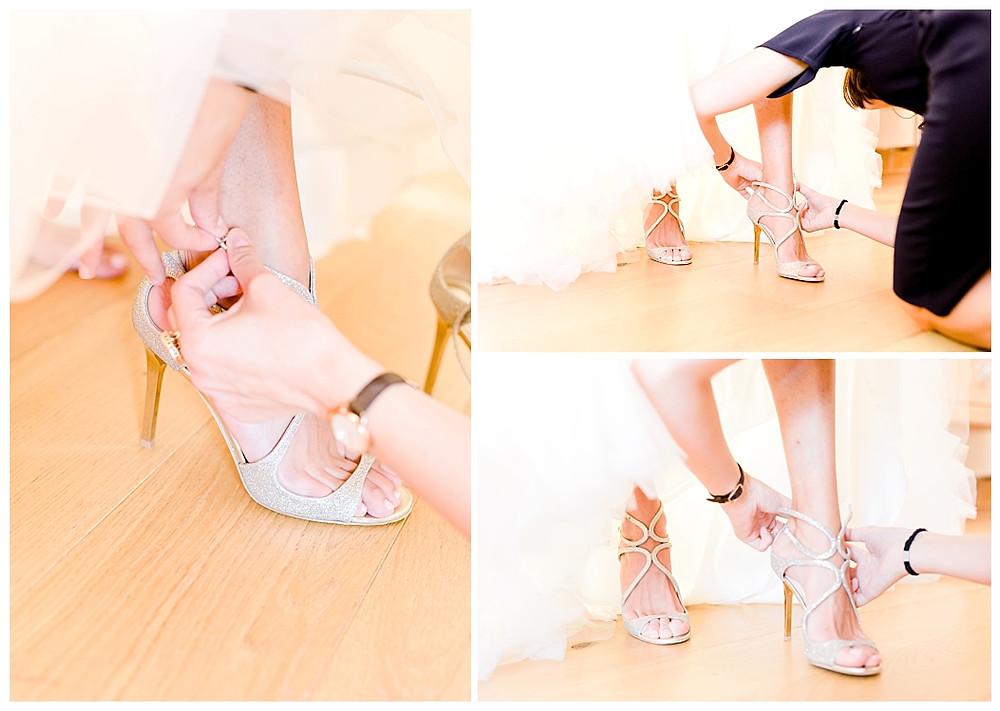 la mariee met ses chaussures Bastide Saint-JUlien, La Celle