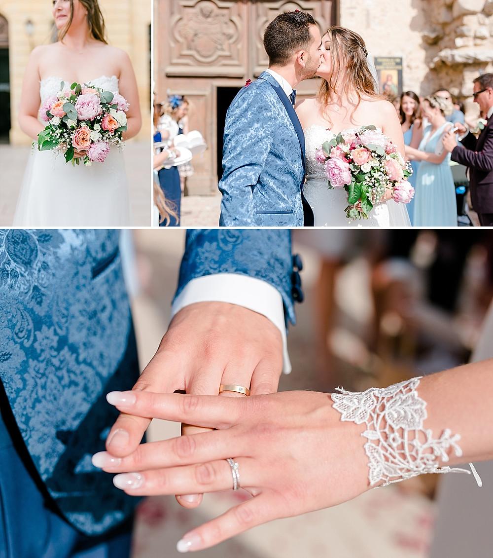 bouquet et alliances mariage en provence