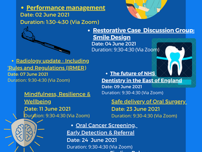 HEE Dental Training Courses for June 2021