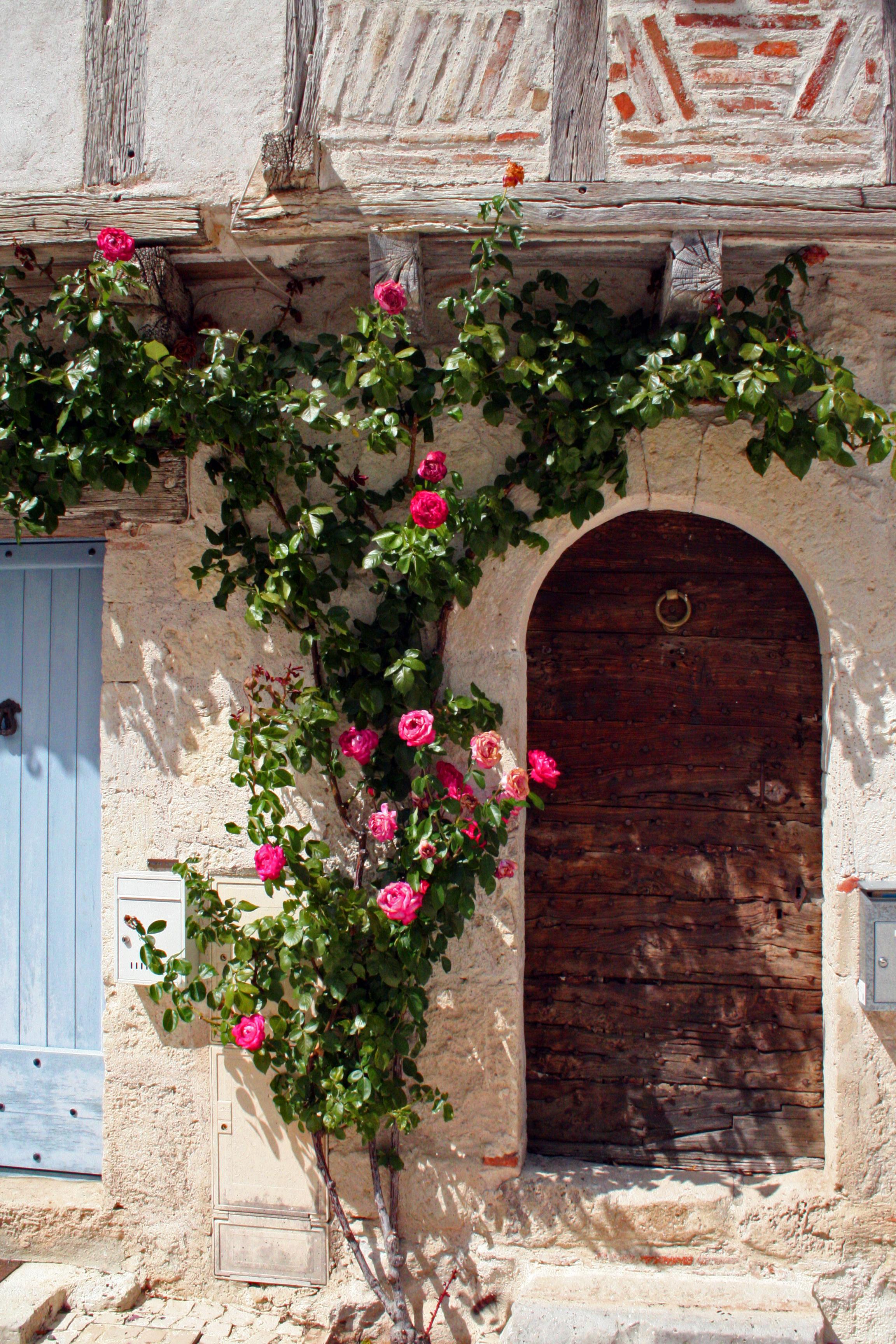 Old door in small village