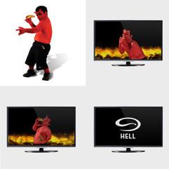 "HELL PIZZA - 1 SECOND TV ""BLIPVERT"""