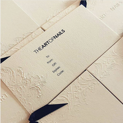 The Art of Nails - Embossed Gift Card