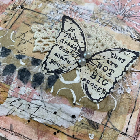 Mixed media on paper and fabric
