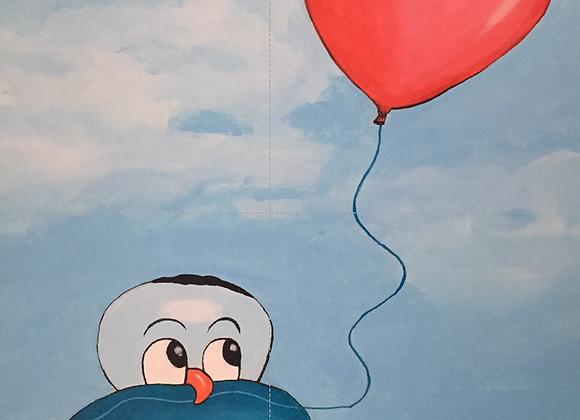 Schilderij: Oulli is verliefd 40x60cm
