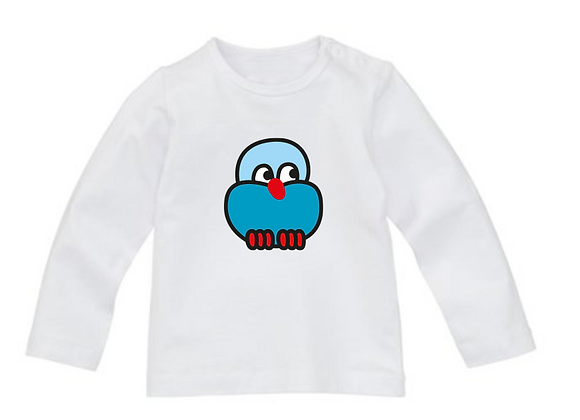 Wit Baby T-shirt met Oulli