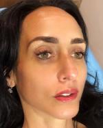 Full face swipe left for the before eyeliner tattoo
