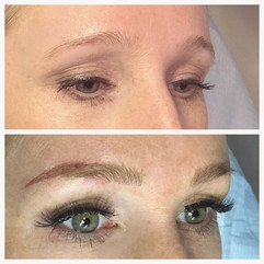 Oh hiiiii!! Look at that lift!  Hybrid brow with microblading blended with powder brow