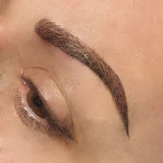 Detail shot of a corrective brow done wi