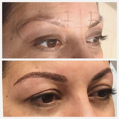 New brows 💕😻 this is over old faded Pm