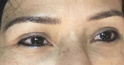 Lower lash line eyeliner tattoo