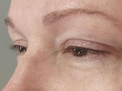 Ultra natural lash enhancement, soft fine top only eyeliner tattoo