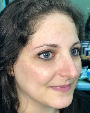 Eyeliner and freckles