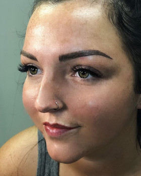 Summer ready!  Fresh clean skin and sweat proof makeup. Hybrid brows and lip blush