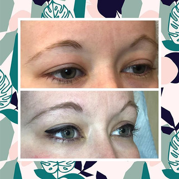 Before and after dramatic eyeliner tattoo