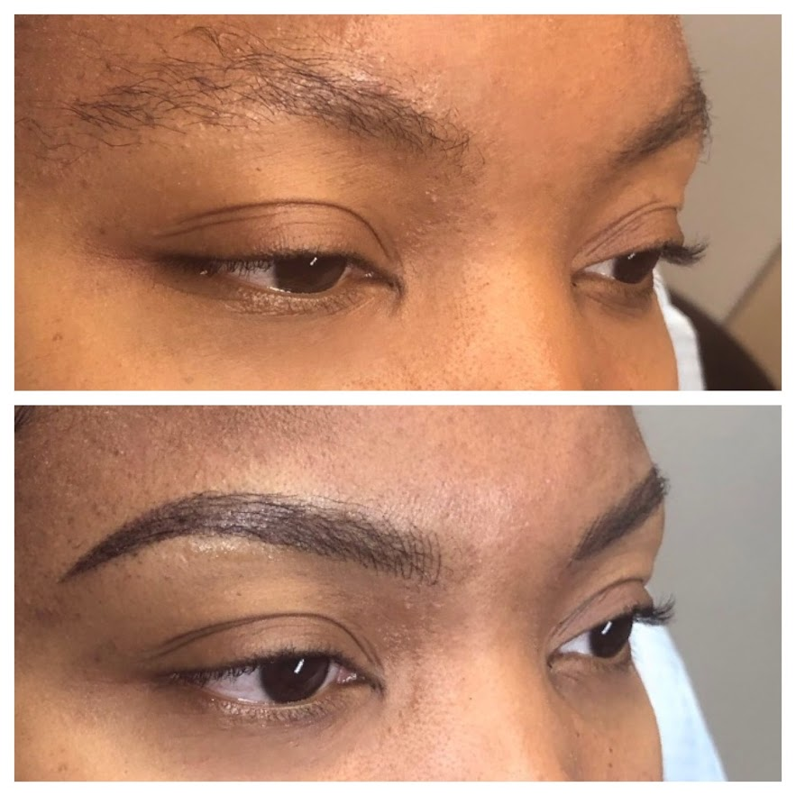 Nano hair stroke and ombre brow