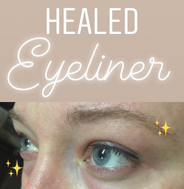 Healed after just one session! Very soft eyeliner tattoo procedure