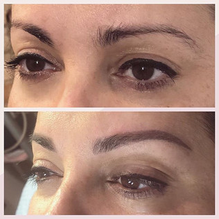 Beautiful new brows!! Microblading and nano shading