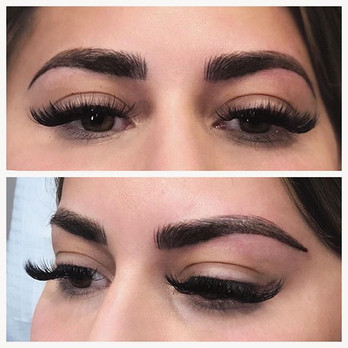 Gorgeous full microfusion annual refresh hybrid brows. Microblading and nano shading