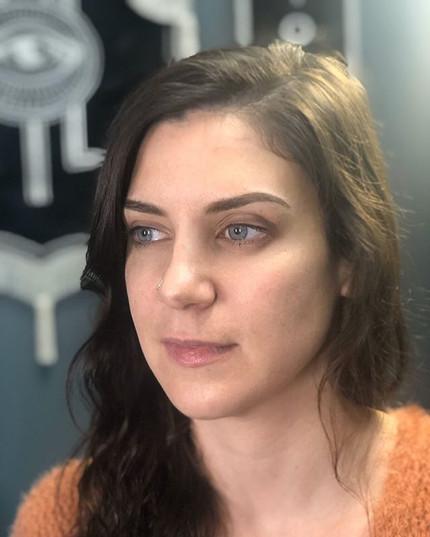 I love how natural Megan's permanent mak