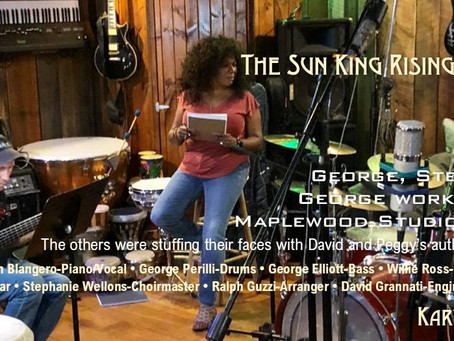 My First Day in the Studio with the Sun King Rising Studio Band.