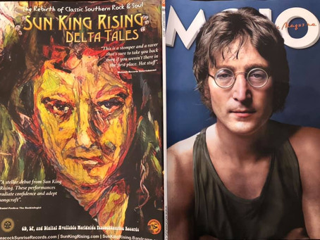 SUN KING RISING AD PUBLISHED IN MOJO MAGAZINE