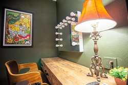 Artist Green Room Makeup Station