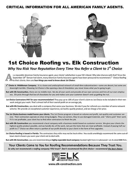 1st Choice vs Elk Construction Fax Messa