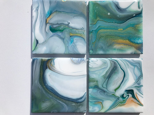 #4 Set of (4) Resined Coasters