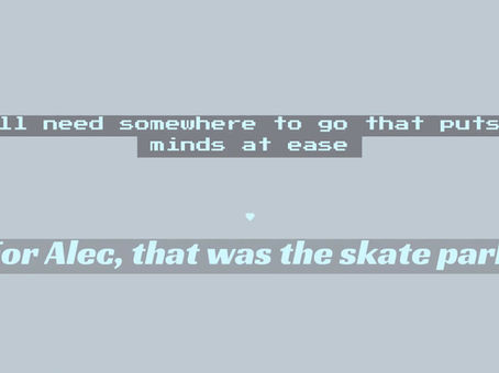 Alec loved to skateboard and the skatepark meant a lot to him