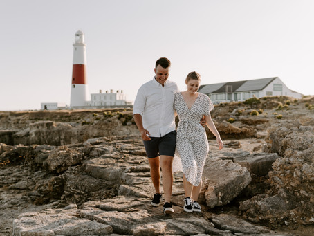 Abby & Ollie   Pulpit Rock, Dorset   Couple Session