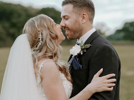 Rebecca & Adam   Stockbridge Barn Farm Wedding