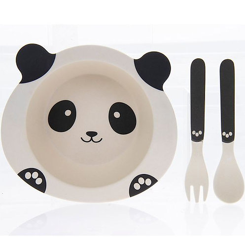 Panda Bamboo Eating Set