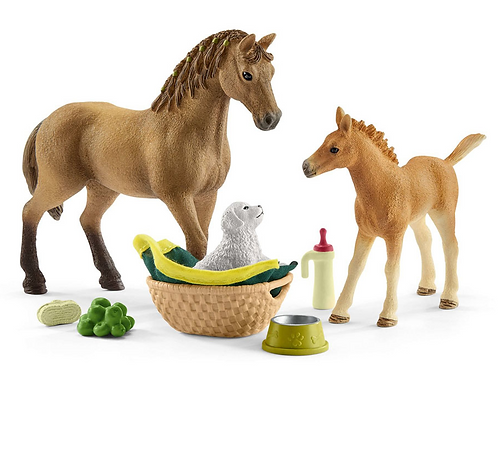 Schleich Horse Club Sarah's Baby Animal Care Set