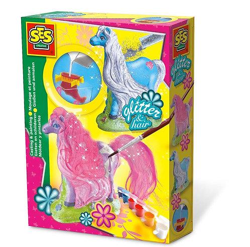 Glitter Horses Casting & Painting Set