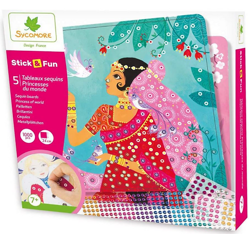 Sycomore Princesses of the World Sequin Boards Kit
