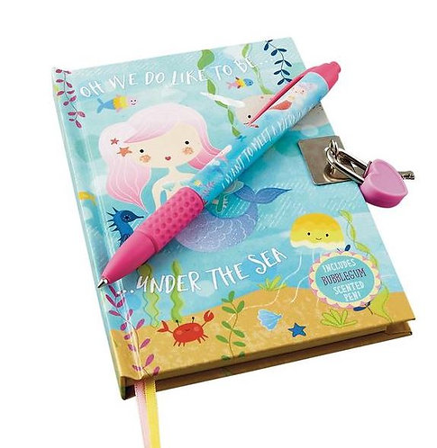 Lockable Notebook With Scented Pen
