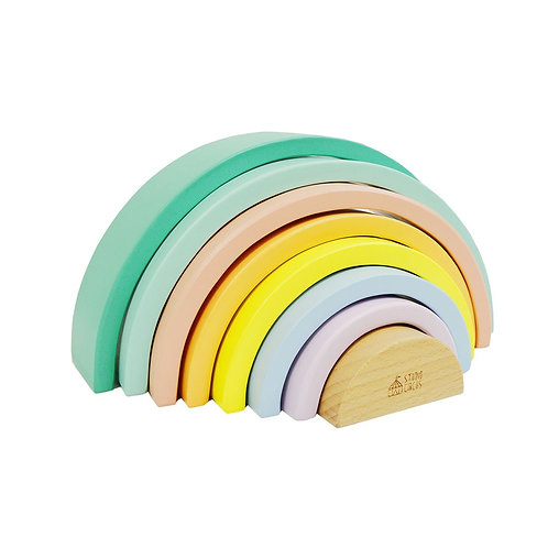 Large Wooden Pastel Rainbow
