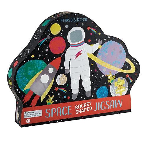 80Pc Space Rocket Shaped Jigsaw