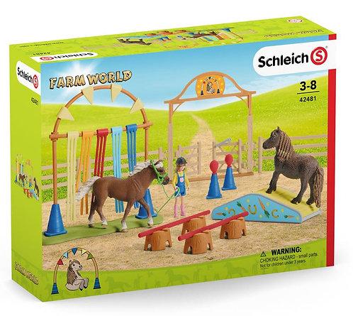 SCHLEICH Farm World Pony Agility Training