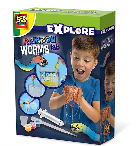 Rainbow Worms Science Experiment Kit