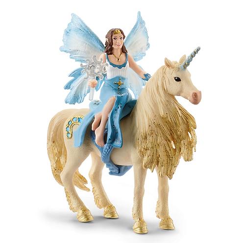 SCHLEICH Bayala Fairy Eyela on Golden Unicorn
