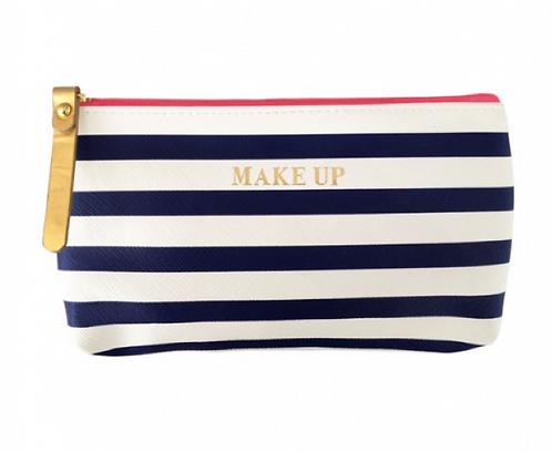 Striped Make-up Bag