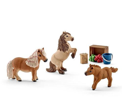 SCHLEICH Horse Club Shetland Pony Family