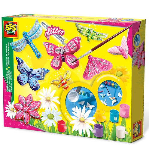 Glitter Butterfly Casting & Painting Set