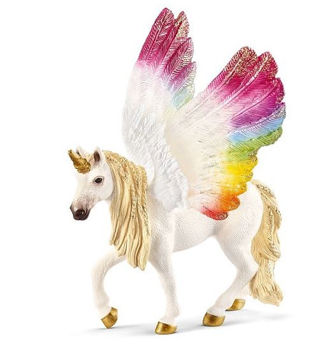 SCHLEICH Winged Rainbow Unicorn Mare
