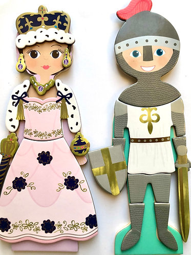 Wooden Magnetic Dress Up Prince & Princess