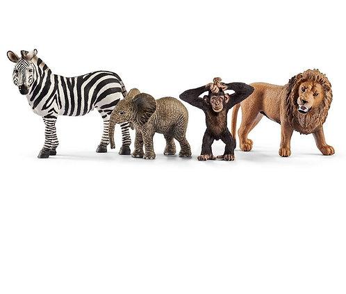 SCHLEICH Wildlife Safari Starter Set (4 Figures)